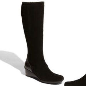 Aquatalia Minnow Black Suede Leather Boot Sz 9.5